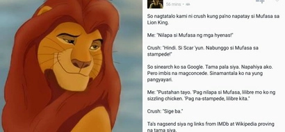 Netizen shares how he effortlessly scored a date with his crush through Mufasa from 'The Lion King' movie