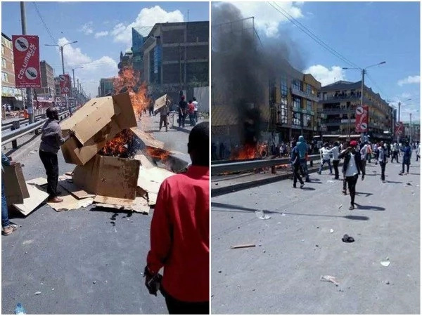 Tension and mayhem as chaos erupt in Eastleigh