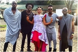 Savage! Safaricom CEO 'undresses' Sauti Sol for wearing 'clothes with holes'