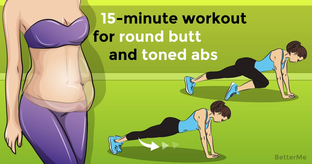 15-minute workout for round butt and toned abs