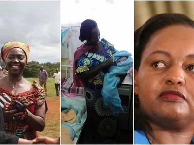 Martha Karua 'amsaidia' mwanamke kujifungua huku mgomo wa wauguzi ukiendelea (picha)
