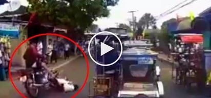 Pinoy children get brutally hit by motorcycle rider while crossing street in Lipa City