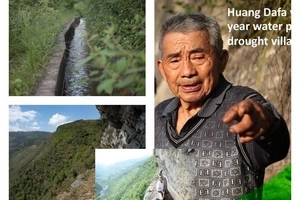 Stubborn man spends 36 YEARS digging 10km long canal through mountains to bring water to his village (photos)