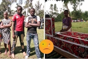 Tears as Bungoma boy, 9, killed by his mother and her lover is buried (photos)