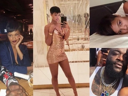Rick Ross introduces Lauryn, his new beautiful girlfriend. Photos included