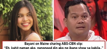 Wag na pong lagyan ng kulay! Bayani Agbayani comes to Maine Mendoza's defense after GMA actress was bashed for allegedly siding with ABS-CBN