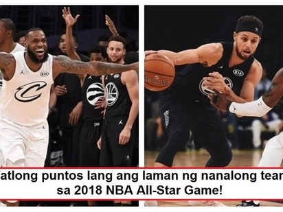 Team Lebron defeats Team Stephen in epic NBA All-Star Game! Ito na ang highlights video ng matinding laro