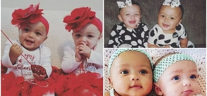Adorable! Twins with DIFFERENT skin colors celebrate their first birthday (photos)
