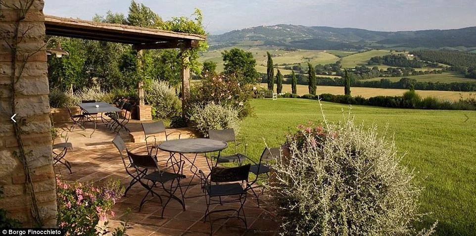 The Tuscan villa offers tranquility, privacy and stunning views all around