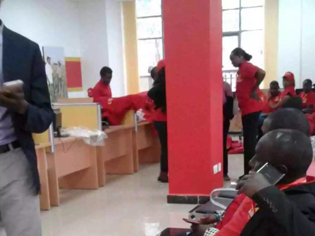 Interior pictures of Jubilee Party headquarters in Pangani