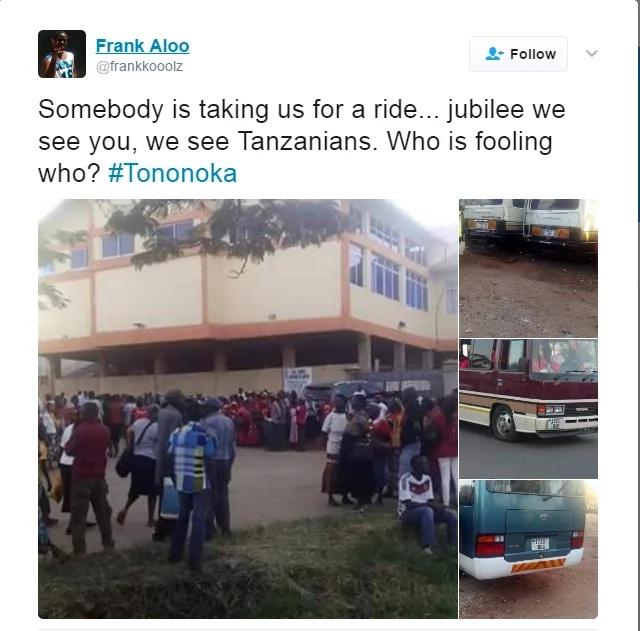 Did Jubilee party Import Tanzanians for their Tononoka Rally? (Photos)