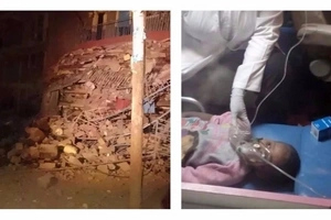 Joy as child trapped in collapsed Pipeline building is rescued (photos)