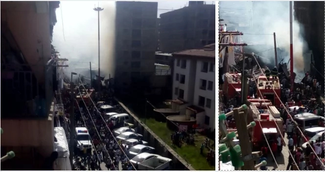fire at pipeline estate
