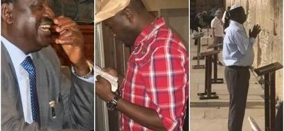 NTV reporter Dennis Okari STRUCK below the belt after trying to take on Raila Odinga