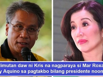 Nag-react na siya! Mar Roxas allegedly hurt by Kris Aquino's 'distasteful' remarks against Korina Sanchez