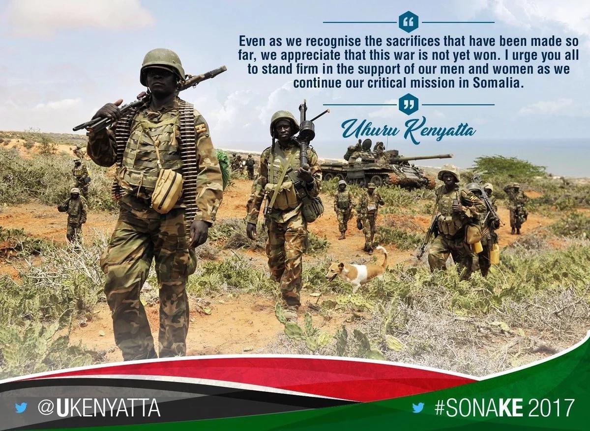Uhuru Kenyatta makes blunder on KDF
