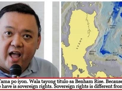 Tama daw ang China! Roque says PH has no sovereignty over Benham Rise