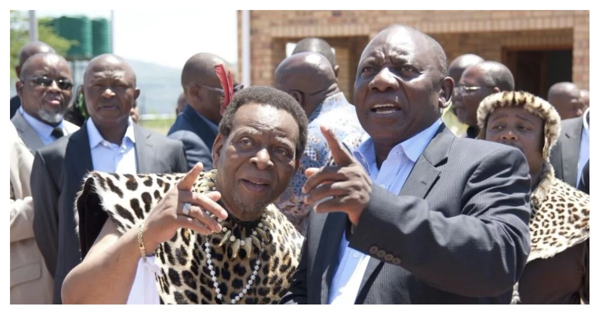 Goodwill towards the ANC: Ramaphosa and top leaders visit the Zulu monarch