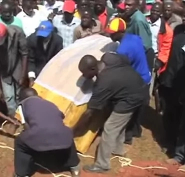 Shock as man is buried squatting in Kakamega