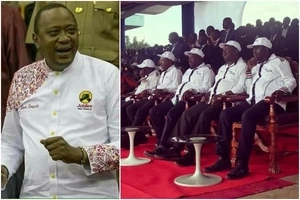 After Uhuru's shirt went viral, fashion house behind Raila, Mudavadi and Wetangula's SHIRTS emerges