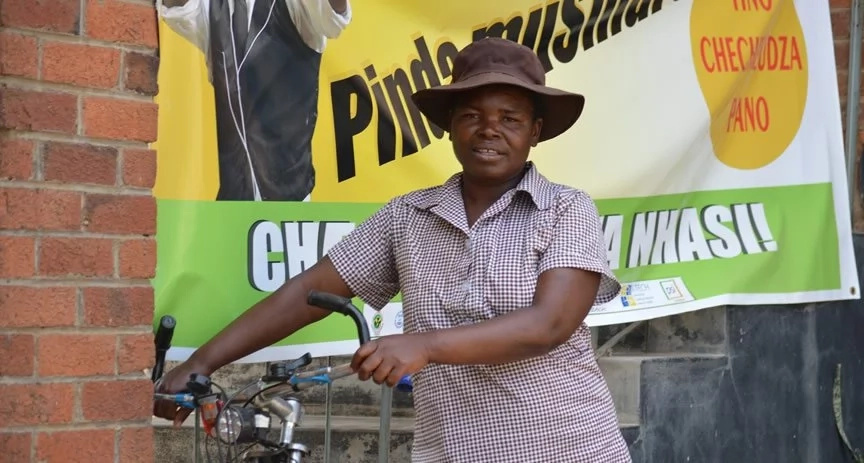 Village health workers take leading role in fight against HIV/AIDS using their BICYCLES