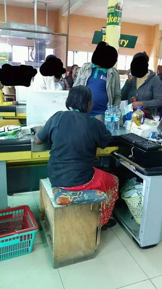 Photo: see the sad working condition at this Tuskys supermarket