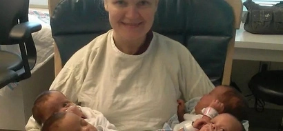 Mom goes into labor expecting triplets, is pleasantly surprised with quadruplets instead