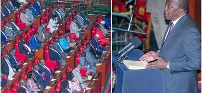 Uhuru breaks into a famous song lighting up parliament (video)