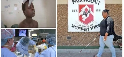 Blind girl, 20, beats deadly TUMOUR to graduate from MAINSTREAM high school (photo)
