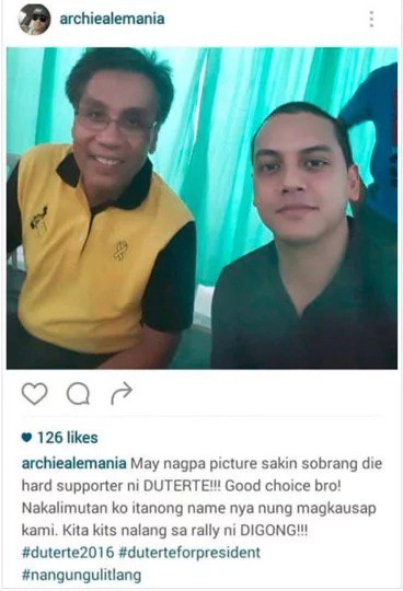 Archie Alemania 'disrespects' people with Mar Roxas selfie; asks for forgiveness