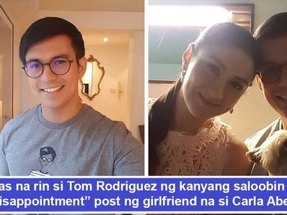 Nagsalita na rin siya! Tom Rodriguez breaks silence over intriguing 'disappointment' posts of gf Carla Abellana