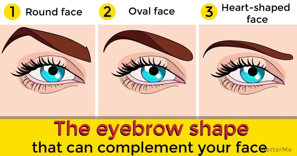 The eyebrow shape that can complement your face