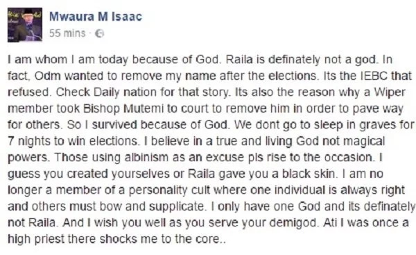 reactions to raila sleeping in a grave reactions