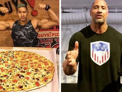 The Rock wants a piece of Eruption's giant pizza