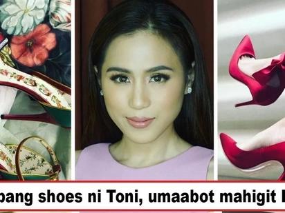 Konti lang nakaka-afford ng mga yan! Price tags of Toni Gonzaga's luxurious shoes are not for the fainthearted
