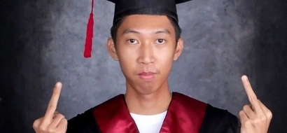 This student's 'unique' graduation photo draws different reactions from netizens