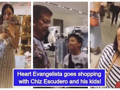 Yayamaning pamilya! Heart Evangelista, nag-shopping kasama si Chiz Escudero at ang mga anak nito