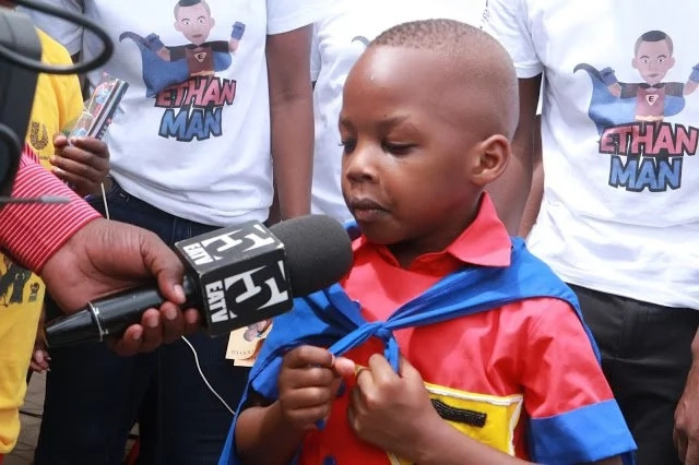 Ethan Yona during the launch of his app: Photo: Africa News