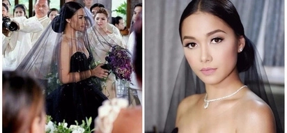 Iba talaga siya! Take a peek at Maja Salvador who looks stunning as a bride in black in 'Wildflower' wildest wedding