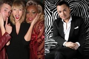Pak na pak ang gawang Pinoy! Taylor Swift sizzles in sexy black dress by Filipino designer