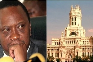 A satellite photo of an expeinsive palace that Uhuru is building next to State House