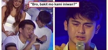 Nagpaalam sa brother nila: Hashtags members break down while delivering their personal messages to Franco Hernandez