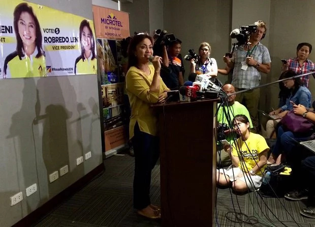 Robredo leads VP race; denies 'resignation' and 'Plan B'