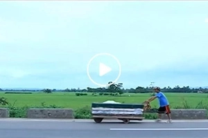 Inspiring Pinoy walks for 6 days with his 'kariton' to come home to his family in Isabela