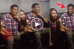 Pres. Duterte fondly holds hand of lady young enough to be his apo, says, 'Di puwedeng ganito'