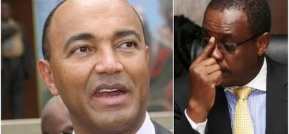 Photos of Kidero copying Peter Kenneth which have made Kenyans viciously attack him