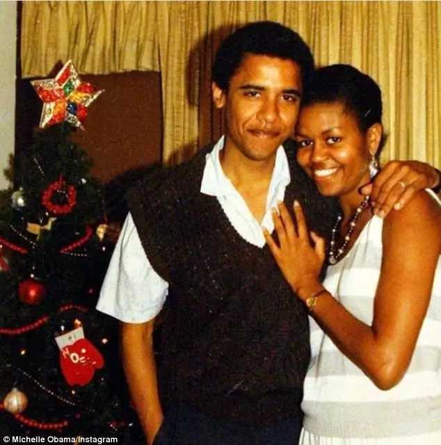 Barack and Michelle Obama in the early days of their marriage