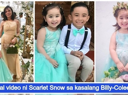 Agaw eksena talaga! Scarlet Snow Belo steals the spotlight during Billy Crawford and Coleen Garcia's wedding