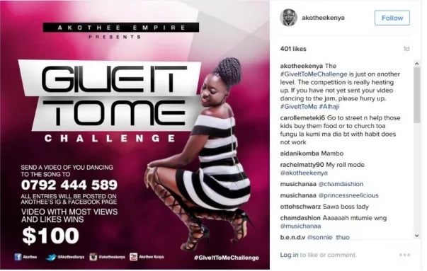 Akothee paying KSh 10k to twerking winners is an absurdity