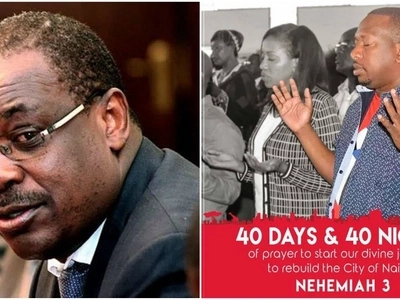 Sonko 'Governor Nehemiah' starts 40 days and 40 nights prayer journey to capture Kidero's seat